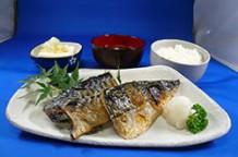 焼き魚定食(さば)の写真
